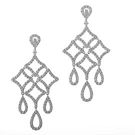 Odelia 18K White Gold Diamond Pave Chandelier Drop Earrings