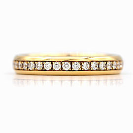 Chopard 18K Yellow Gold with Diamonds Eternity Wedding Band Ring Size 6.75