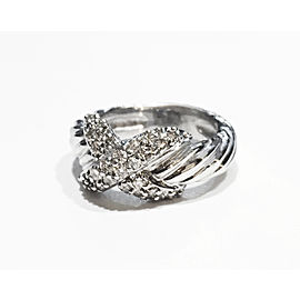 David Yurman Vintage Crossover X ring with Diamonds