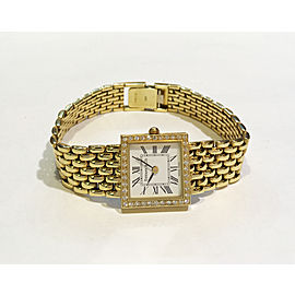 Tiffany & Co. 14K Yellow Gold Diamond 19mm Womens Watch