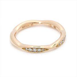 CHANEL 18K Pink Gold Camellia Diamond Ring