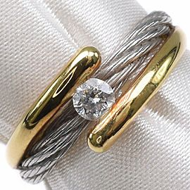 Ring K18 yellow gold/Pt900Platinum/diamond #14(JP Size) Women