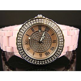 Techno Com Kc Ceramic 1.50 Ct Diamond Womens Watch
