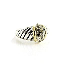 David Yurman Silver Ice Sterling Silver Diamond Ring