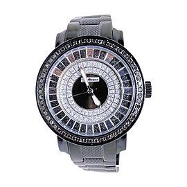 Jojo/Jojino/Joe Rodeo Pj-1037A Metal 56 Black Diamond 2.25 Ct Mens Watch