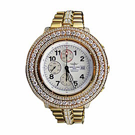 Breitling Super Avenger Aeromarine Gold Genuine 19 Ct Diamond 55mm Mens Watch