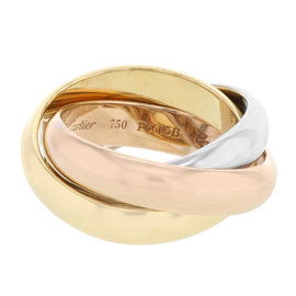 Cartier Trinity De Cartier 18K White, Yellow and Rose Gold Ring Size 5