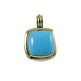 David Yurman Albion Sterling Silver Turquoise Pendant