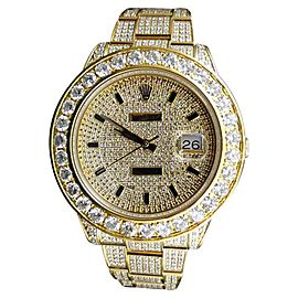 Rolex Mens Diamond Gold Datejust II 45mm Watch