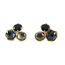 Ippolita 18K Yellow Gold with Onyx Lago Rock Candy Stud Earrings