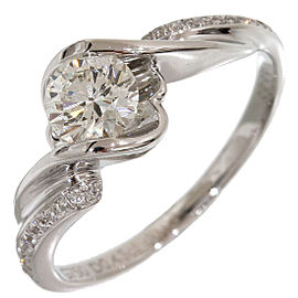 Forevermark 0.43ct & 0.06ct Diamonds Ring 18KWG US4.25 EU46.5 w/Box,Cert