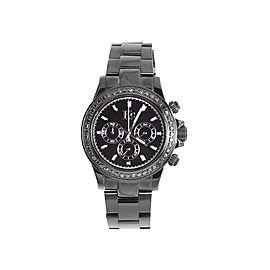 Techno Com KC Daytona Black Stainless Steel 1.9Ct Diamond 41mm Unisex Watch