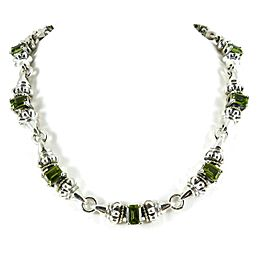 Lagos Glacier Sterling Silver Peridot Necklace