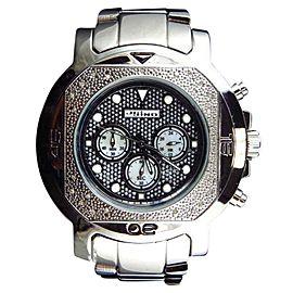Jojo/Jojino XL MJ-1225 Big Face Stainless Steel 55 MM 0.25 Ct Diamond Mens Watch