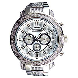 Jojo/Jojino Mens XL Big Face Stainless Steel 52 MM 0.25 Ct Diamond MJ-1212 Watch