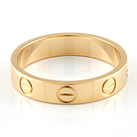 CARTIER 18k yellow Gold Mini love Ring HK-2080