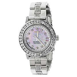 Breitling Aeromarine Pink MOP Colt Oceane 33 Diamond A77387 10.5 Ct Watch