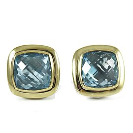 David Yurman Albion Sterling Silver Blue Topaz Earrings
