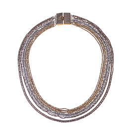 Givenchy Multi-Strand Two Tone Necklace