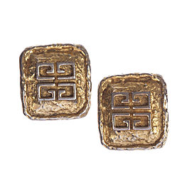 Givenchy Monogram Rectangular Nugget Earrings