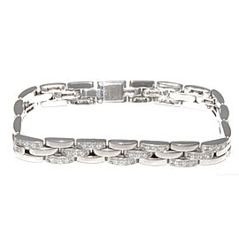 Cartier Maillon Panthere 18K White Gold & Diamond Bracelet