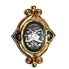 Fendi Bacchus Dionysus Vintage Pin