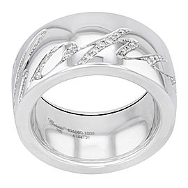 Chopard Chopardissimo 18K White Gold with 0.28ct Diamonds Ring Size 6