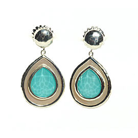 Ippolita Sterling Silver Turquoise Mother of Pearl Rock Candy Teardrop Earrings