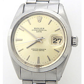 Mens Rolex Stainless Steel Date Silver 1500