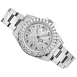 Rolex Mens Stainless Steel Yachtmaster 40mm 16622 Diamond Watch
