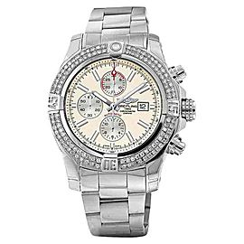 Breitling A1337111/G779 Super Avenger II (two) 3.00ct. Diamond Bezel Watch