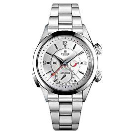 Tudor Heritage Advisor Steel Bezel 79620T Silver Dial Watch
