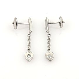 Cartier 18K White Gold Mon Amour Diamond Hearts Drop Dangle Earrings