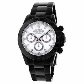 Rolex Daytona 116520 Black PVD White Dial Oyster Bracelet 40mm Watch