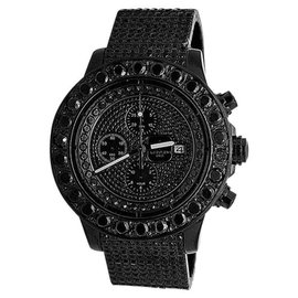 Breitling A13370 Super Avenger XL PVD Steel Black 35ct. Diamond Mens Watch