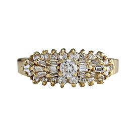 14K Yellow Gold 1.00ct Diamond Ring Size 9.5