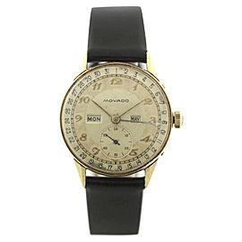 Movado Triple Calendar Vintage 32mm Mens Watch