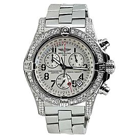 Breitling Aeromarine Avenger Seawolf Chrono A73390 Stainless Steel 26mm Watch