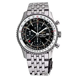 Breitling Navitimer World GMT A24322 Black Face Chronograph 46mm Watch