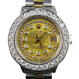 Rolex Datejust 18K Yellow Gold & Stainless Steel 3.0 ct Diamond 31mm Watch
