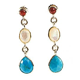 Ippolita Sterling Silver Turquoise Pearl Garnet Grotto Stone Earrings