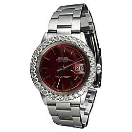Rolex Datejust 1601 Stainless Steel & 4.25 Ctw Diamond 38mm Watch