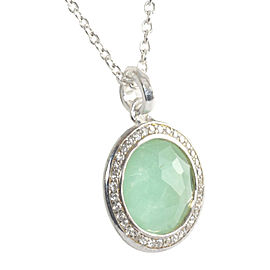 Ippolita Lollipop Sterling Silver Chrysoprase Doublet and 0.14 Ct Diamond Pendant Necklace