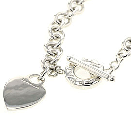 TIFFANY & Co. Silver Choker Heart tag toggle necklace