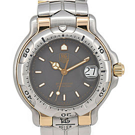 TAG HEUER WH1252 Professional 200m gray Dial SS/GP Quartz Men's Watch