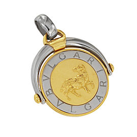Bulgari Zodiac Capricorn Two Tone Gold Pendant