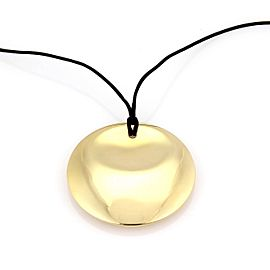 "Tiffany & Co. Peretti 18K Gold Large ""Full Moon"" Disc Pendant Necklace"