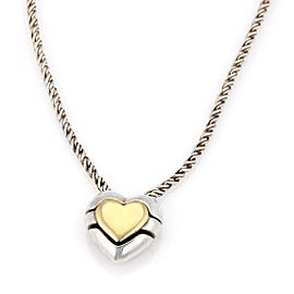 Tiffany & Co. 18K Yellow Gold & 925 Sterling Silver Slide Heart Puzzle Pendant Necklace
