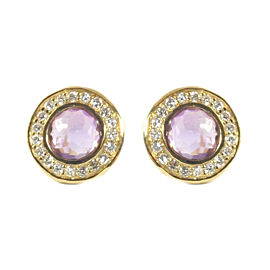 Ippolita 18K Yellow Gold Purple Amethyst Diamond Mini Stud Earrings
