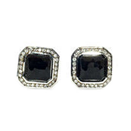 Ippolita Sterling Silver Black Onyx 0.22ct. Diamond Stud Earrings